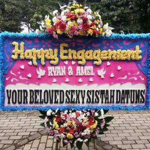 Bunga Papan Happy Engagement 002