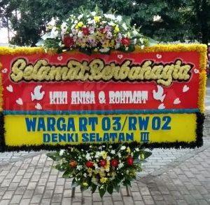 Bunga Papan Wedding 001
