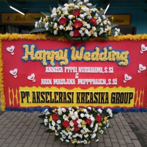Bunga Papan Wedding 019