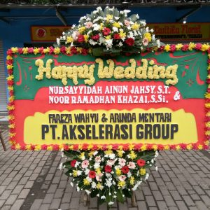 Bunga Papan Wedding 029