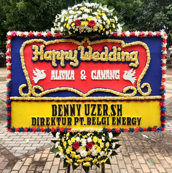 Bunga Papan Wedding 039