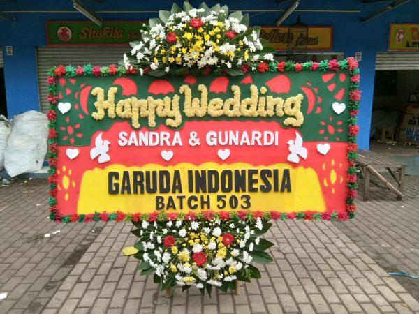 Bunga Papan Wedding 041