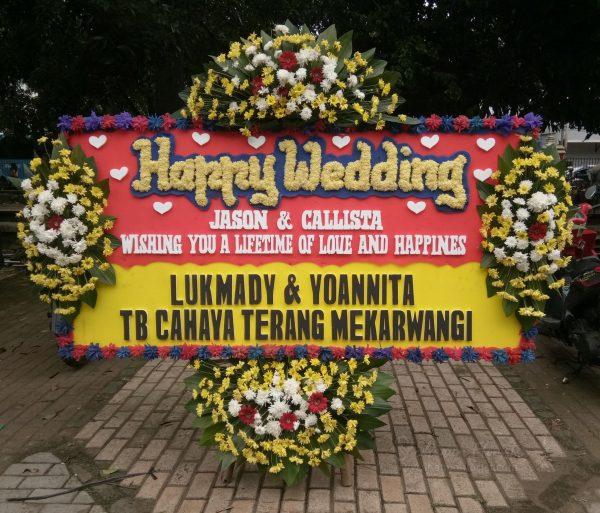 Bunga Papan Wedding 044