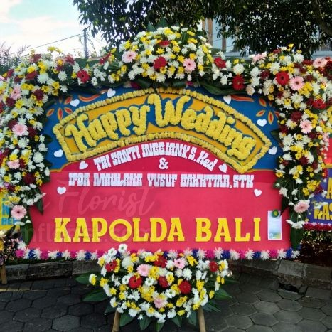 Bunga Papan Wedding 051