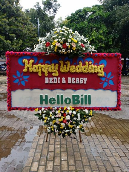 Bunga Papan Wedding 061