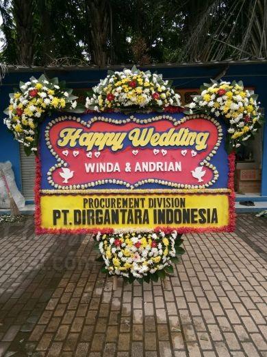 Bunga Papan Wedding 062