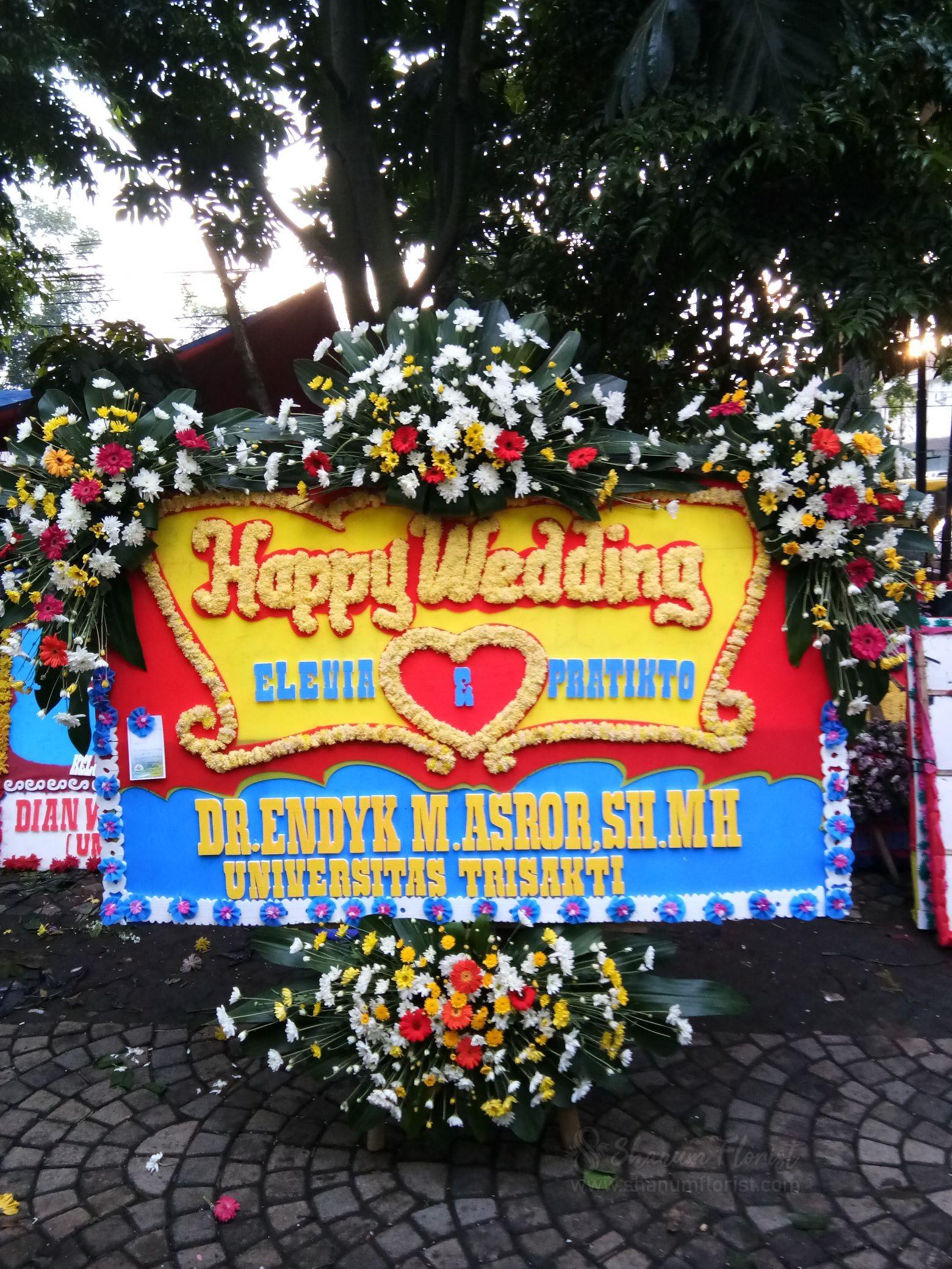 Bunga Papan Wedding 007